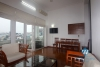 A studio with lake view and balcony for rent on Xuan Dieu, Tay Ho
