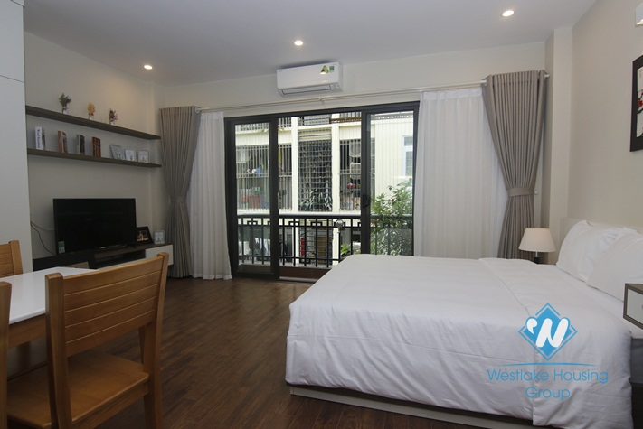 A modern designed apartment with balcony for rent in Doi Can, Ba Dinh