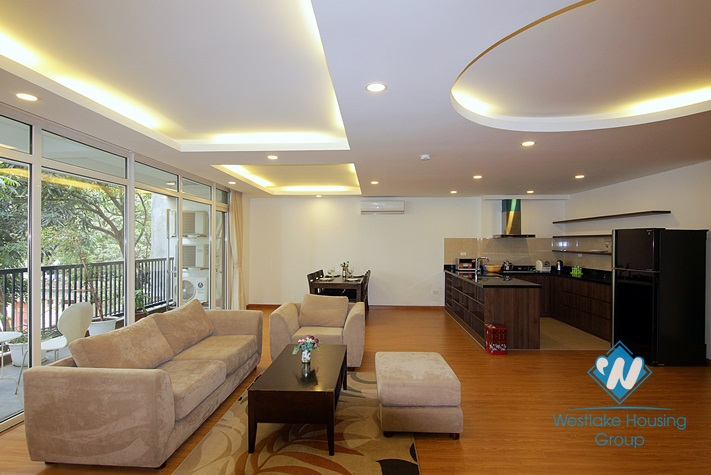 Big size apartment with balcony for rent in Tu Hoa st, Tay Ho District