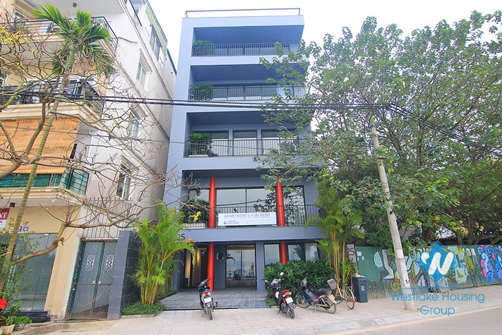 Luxury one bedroom apartment with nice courtyard for rent in Dang Thai Mai area, Tay Ho District