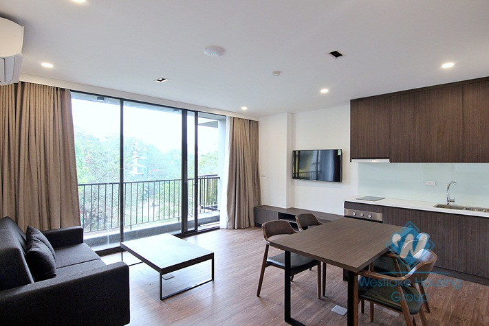 One bedroom apartment in To Ngoc Van street, Tay Ho district for rent.