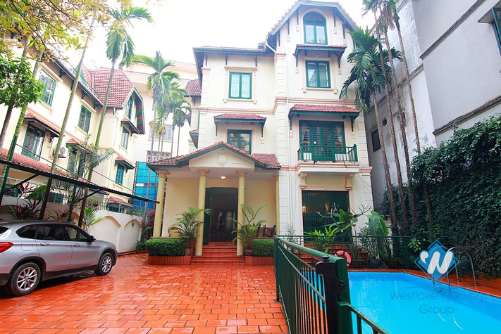 beautiful house with big swimming pool for rent in tay ho district