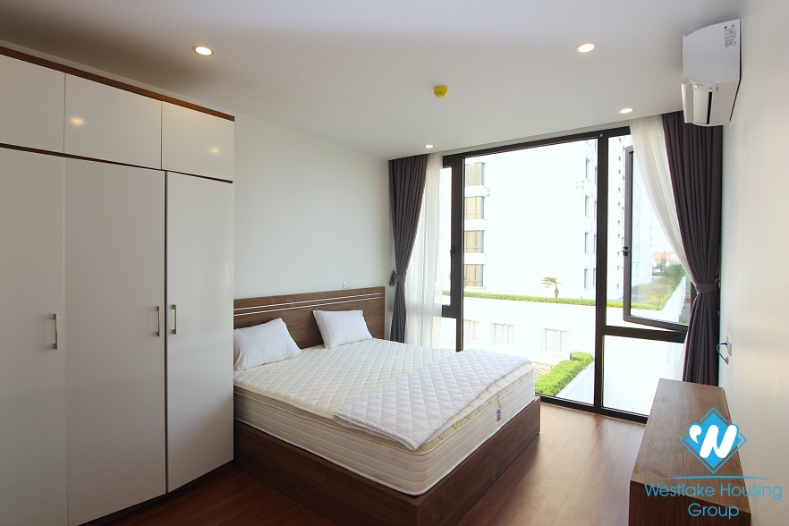 Modern 2 bedrooms apartment with huge balcony for rent in Tay Ho, Hanoi