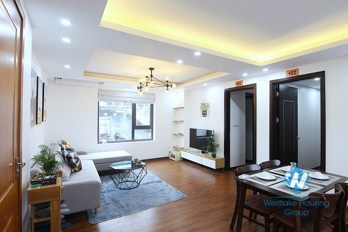 Brand new 2 bedrooms apartment for rent in Nhat Chieu, Tay Ho district.