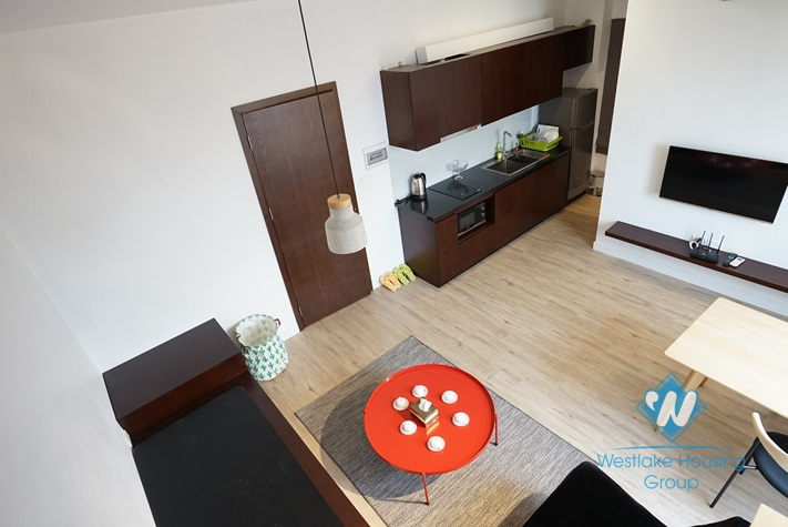 Beautiful duplex apartment for rent in Doi Can, Ba Dinh.