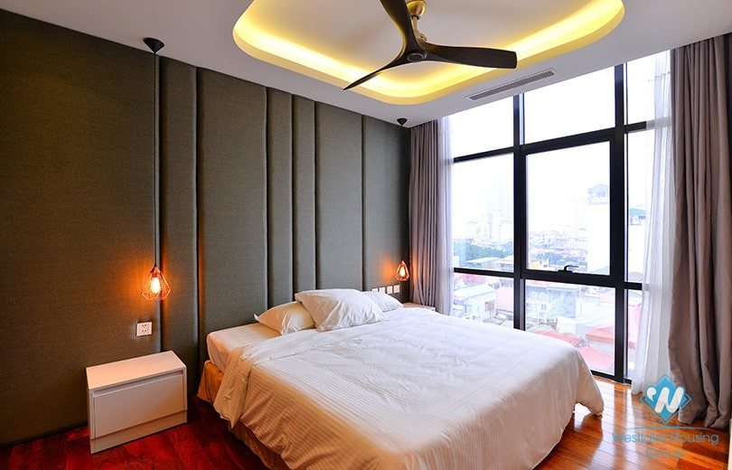 Bright and modern 3 bedrooms duplex apartment for rent in central Ba Dinh area, Hanoi