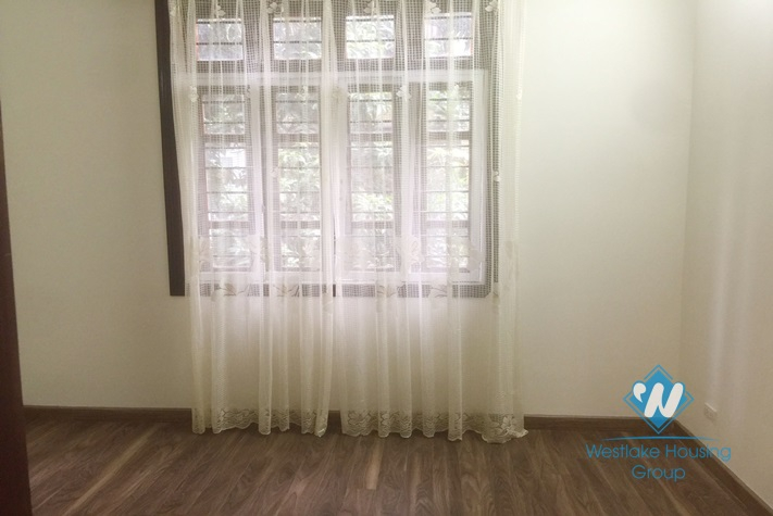 An unfurnished three-floor villa in Ciputra in Tay Ho district, Hanoi