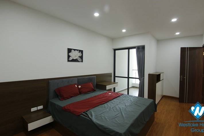 A modern three-bedroom apartment on Lang Ha street, Ba Dinh