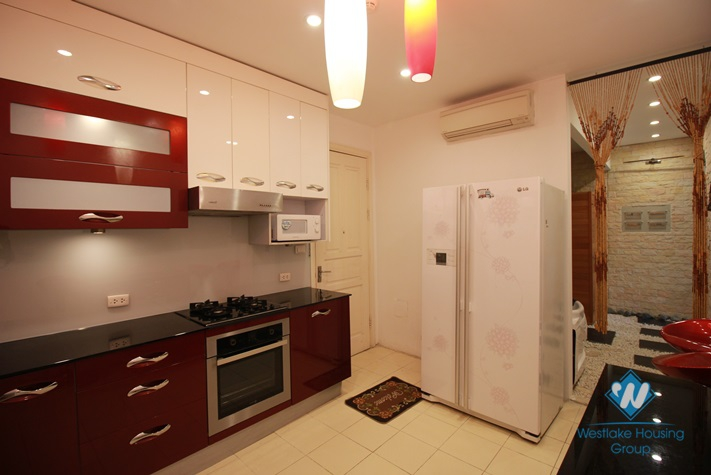 A well-decorated three-bedroom apartment in Ciputra, Tay Ho district