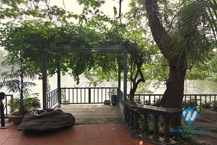 House with large yard and lake view available for rent in Westlake area, Tay Ho, Hanoi