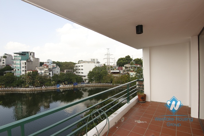 01 bedroom apartment for rent in Truc bach area, large balcony view to the lake, Ba Dinh, Hanoi
