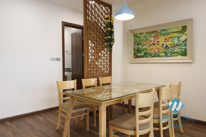 A furnished 2 bedroom apartment for rent in Hanoi Diplomatic Complex