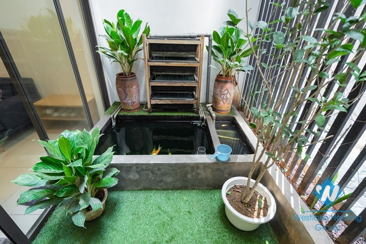 An attractive five-bedroom house with lake view on Kim Ma street, Ba Dinh, Hanoi