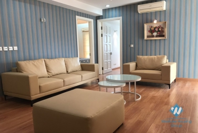 A well-decorated three-bedroom apartment in Ciputra with full furniture, Tay Ho district