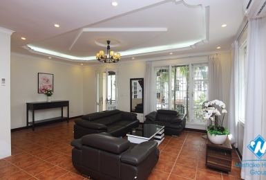 Fully-furnished well-designed five-bedroom house on To Ngoc Van street, Tay Ho district, Hanoi