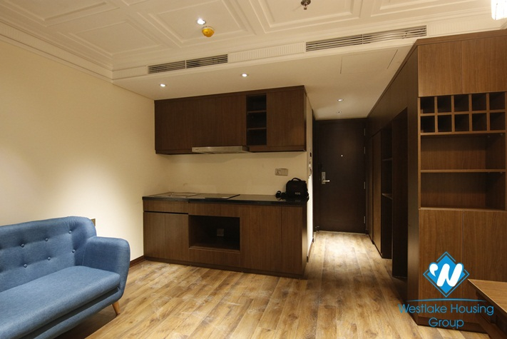 Japanese Styled 1 Bedroom Serviced Apartment For Rent In Hai Ba Trung