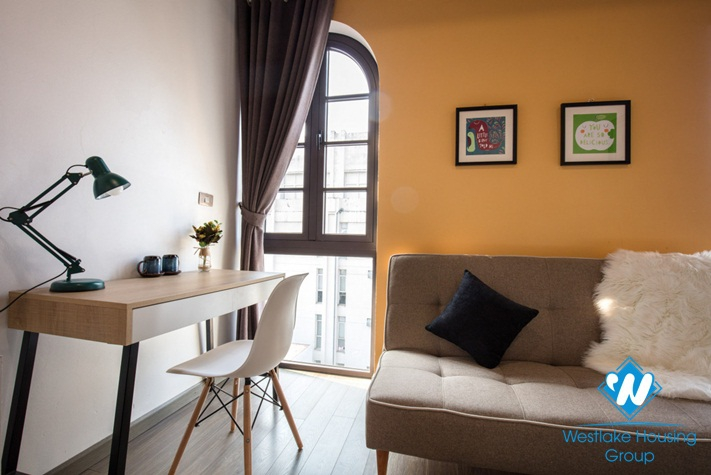 Nice light and bright two-bedroom apartment for rent in Hoan Kiem