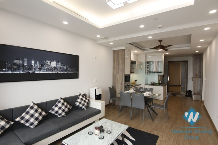 A three-bedroom apartment on the high-rise complex Sun Grand, Thuy Khue
