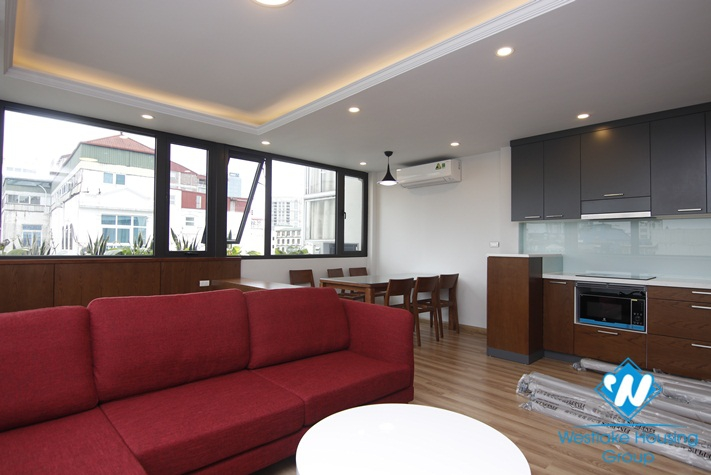 Newly completed two-bedroom apartment with lots of light for rent in the center of Hai Ba Trung District Hanoi