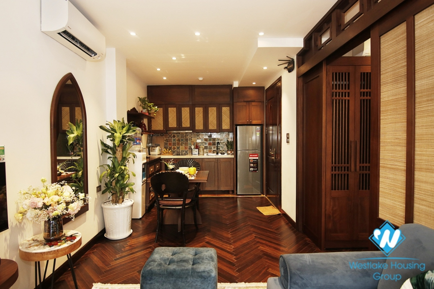 Japanese one-bedroom apartment for rent in Hoan Kiem