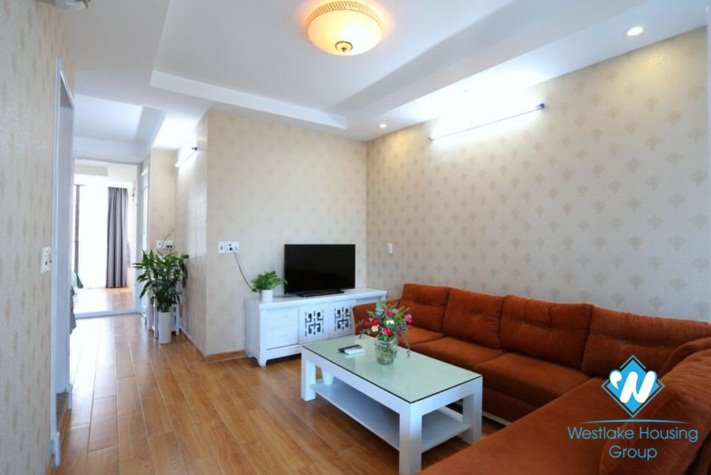 Bright apartment for rent in Yen Phu Street, Tay Ho, Ha Noi