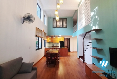 Three bedroom duplex apartment for rent in Ngoc Thuy near French international school