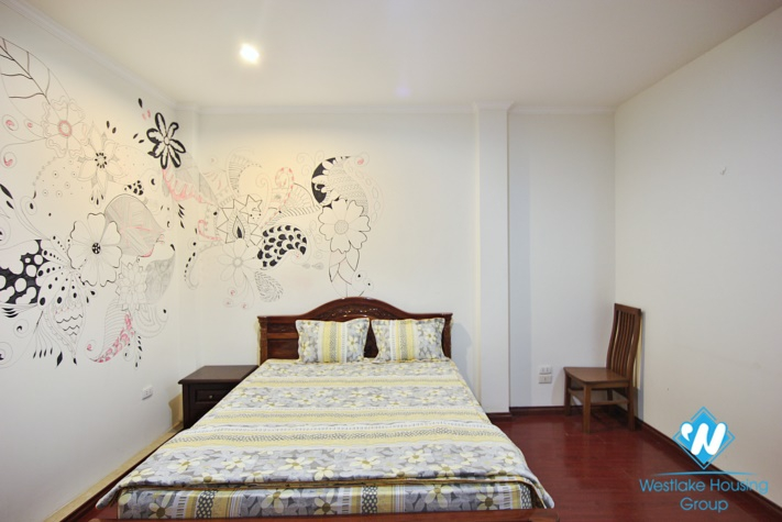 Lake view two bedrooms apartment for rent in Quang An, Tay Ho