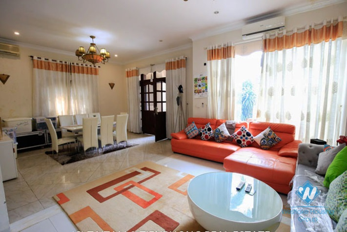 A big, well-equipped villa in Ciputra C Block for rent