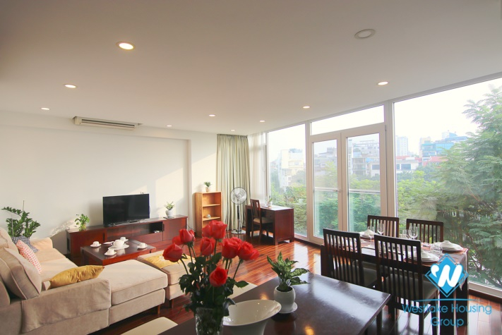 Lakeview two bedroom apartment for rent in Truc Bach  st, Tay Ho district.