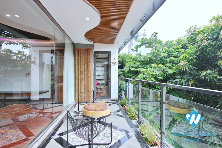 A fabulous brand- new Sophisticated architecture 4 bedroom apartment for rent in To Ngoc Van.