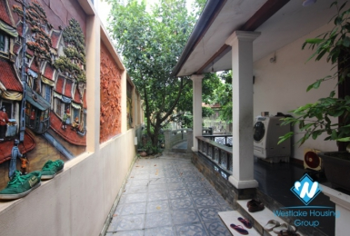 A Nice House with Feng Shui garden for rent near Dang Thai Mai