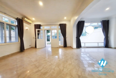 Large airy house for lease in Ciputra compound, Tay Ho, Hanoi- semi furnished.