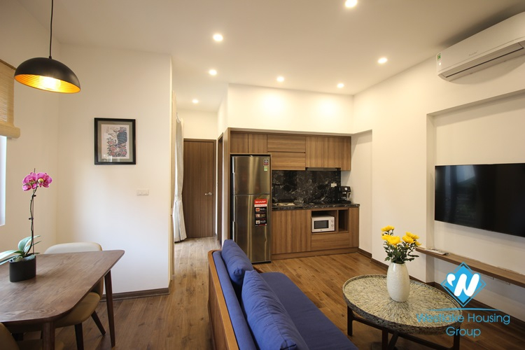 An interesting duplex 1 bedroom apartment for rent on Dang Thai Mai street