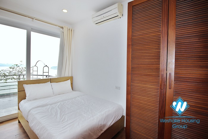 Large 2 bedroom lake view apartment available for rent in Tay Ho district, Hanoi