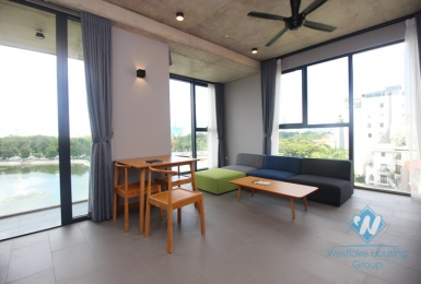 Lake view stylish apartment rental in Dong Da, Hanoi