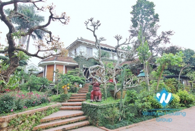 Ancient architecture villa with huge garden for rent in Tay Ho District