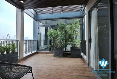Brand new 2 bedroom apartment with big balcony in Au co, Tay ho, Hanoi