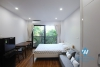 Bright studio with green view for rent in Dang Thai Mai area, Tay Ho district