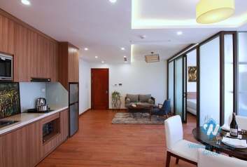 Bright and Morden 3 bedrooms apartment for rent in Dang Thai Mai area, Tay Ho district.