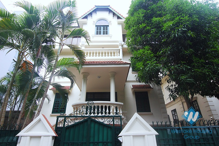 Lovely house with courtyard and garage for rent on To Ngoc Van, Tay Ho, Hanoi