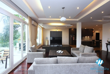 Spacious 4 bedrooms rental apartment on Dang Thai Mai street, Tay Ho, Hano