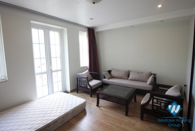 Nice and big size one bedroom apartment for rent in Truc Bach area