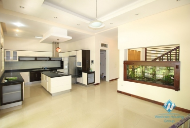 Beautiful house with garden for rent in Ciputra, Tay Ho District