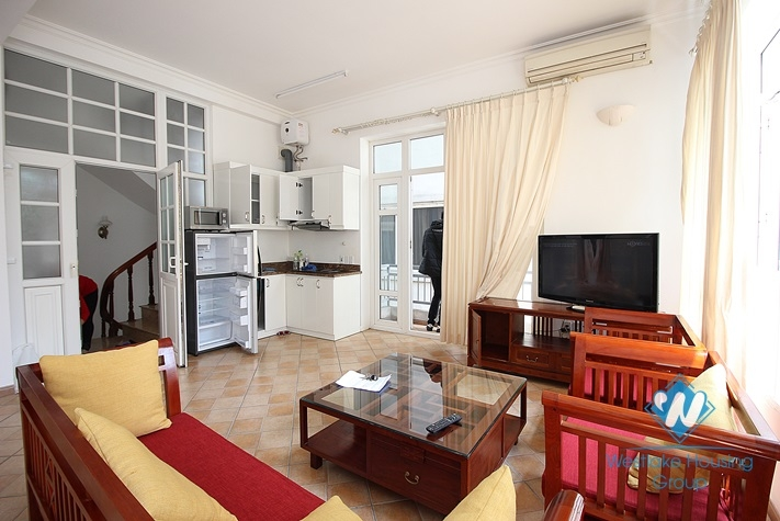 Lovely studio apartment for rent in an alley near Quang An, Xuan Dieu