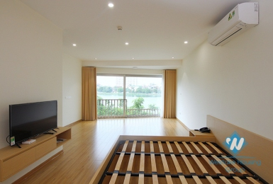 A brand new 1 bedroom apartment with lake view for rent in Quang An, Tay Ho