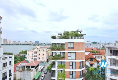 A fabulous brand- new 2 bedrooms apartment for rent with lake view in Tay Ho