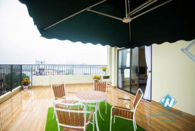 A 1 bedroom apartment with huge balcony and lake view in Nhat chieu, Tay ho