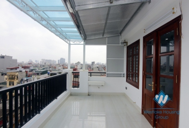 A new 1 bedroom apartment with big balcony for rent in Dong da