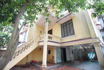 Spacious villa rental with big yard and balcony in the heart of Tay Ho, Ha Noi