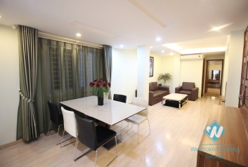 Good price three bedrooms apartment for rent at Giang Vo street, Dong Da district, Ha Noi